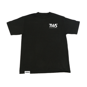 TWS Vertical Black Tee