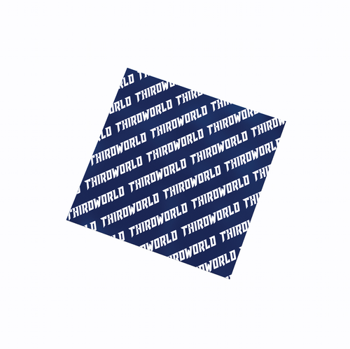 Thirdworld Box Sticker - Navy