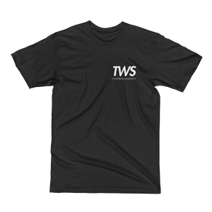 TWS Spine Print Black Tee