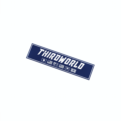 Flags Slap Sticker - Navy