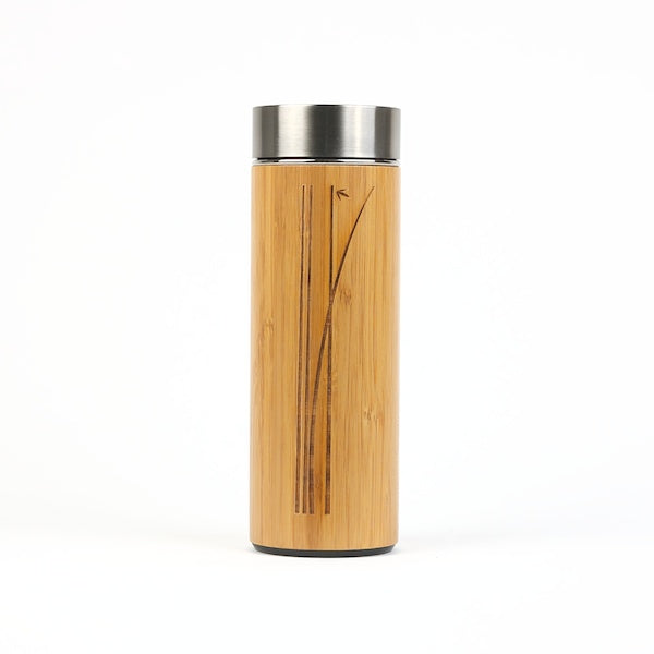 Tea Flask Ceramic with Bamboo Wrap