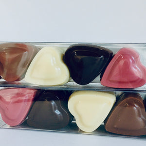 Box of Chocolate Solid Hearts