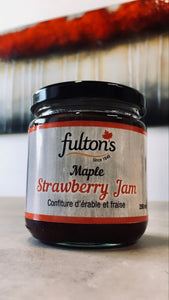 Fulton's Strawberry Jam made with Organic Maple Syrup