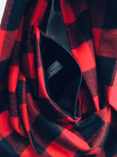 Infinity Scarf - Red Check Plaid in Flannel