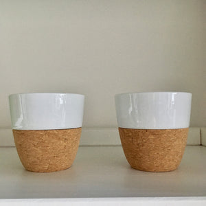 Lauren Porcelain and Cork Teacups