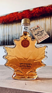 Fulton's 250ml Organic Maple Syrup in Glass Leaf