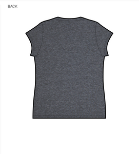 Bloom Tshirt Cap Sleeve in Charcoal Bi-Blend