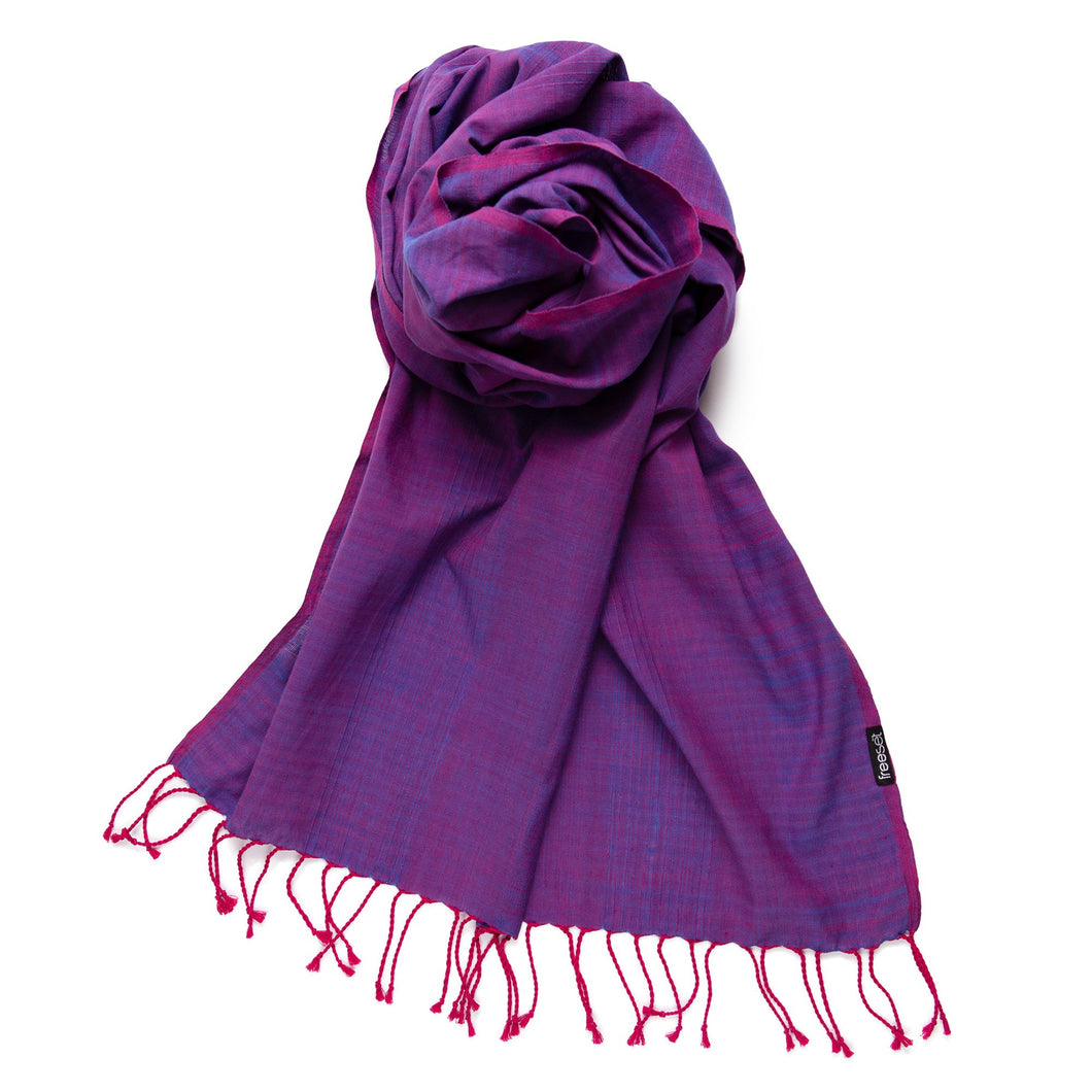 Fairtrade Organic Cotton Scarves - Elegance- Free Shipping for Canada