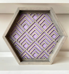 Geometric Tray Grey