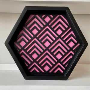 Geometric Tray Black