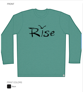 Rise Long sleeve Tshirt Unisex in Olive bi-blend