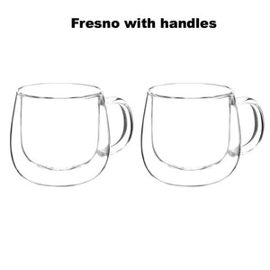 Fresno Insulating Double Wall Glass Cups