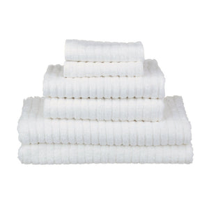 Fairtrade Glo Organic Cotton Stripe Towels - White