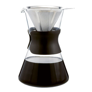 Portland Pour Over Glass Coffee Maker with Marrakech Kettle Option
