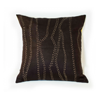 Brown Waves Kantha Pillow