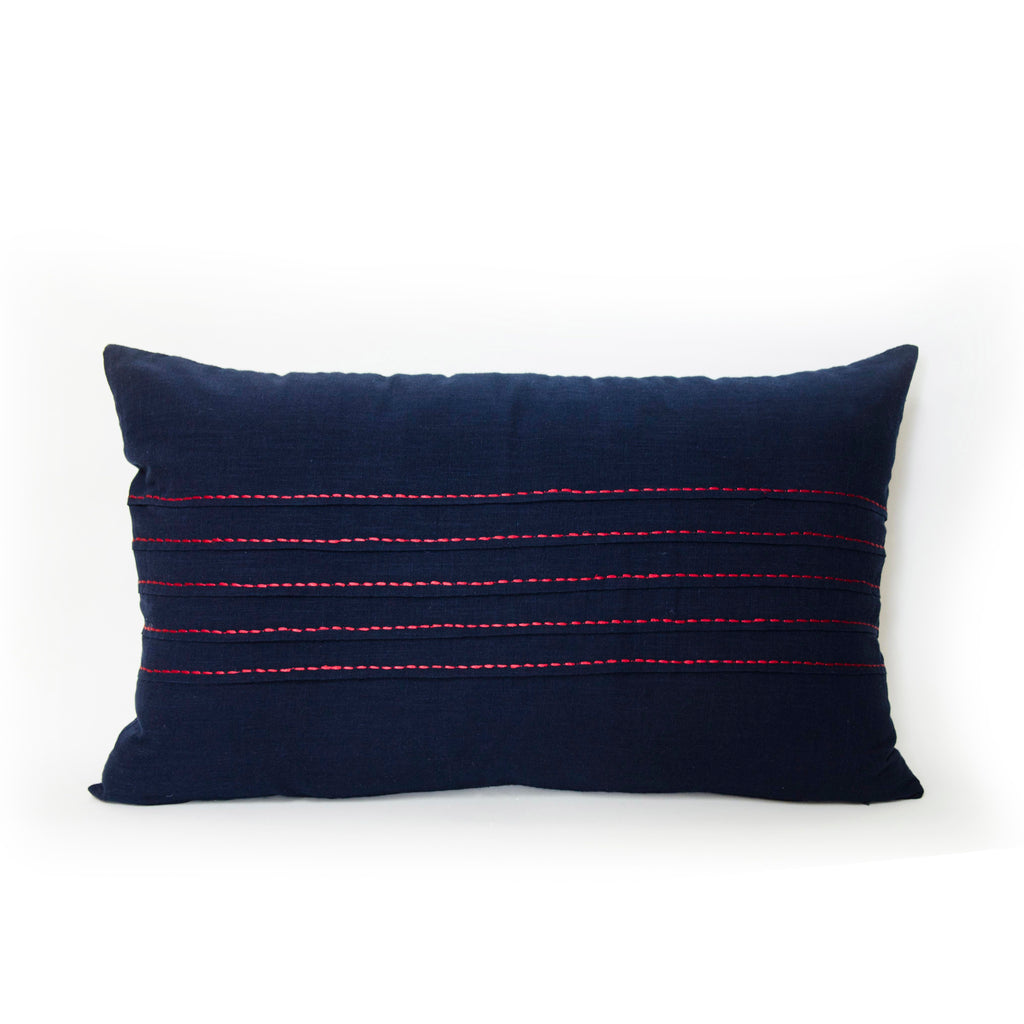 Midnight Pleats Lumbar Pillow