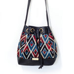 Leather Mosaic Bucket Bag
