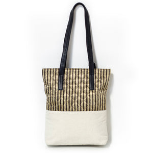 Yellow Stripe Tote