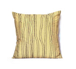 Yellow Waves Kantha Pillow