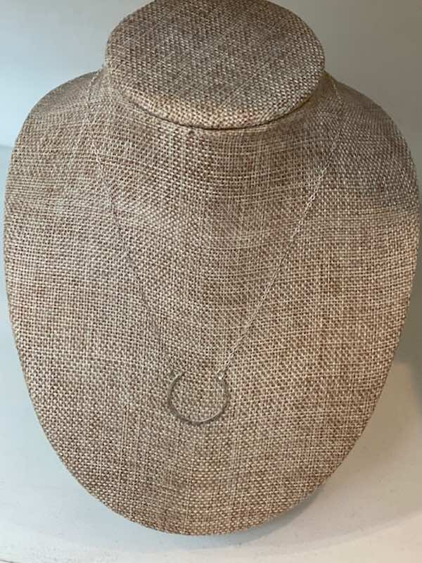 Hanna Half Moon Necklace- Agapantha Jewelry