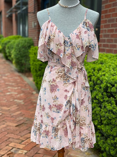 Oakleaf Splash Dress- Pink