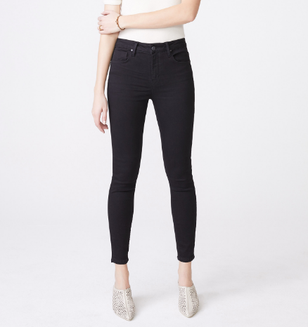Olivia High Rise Skinny in Noir- Unpublished