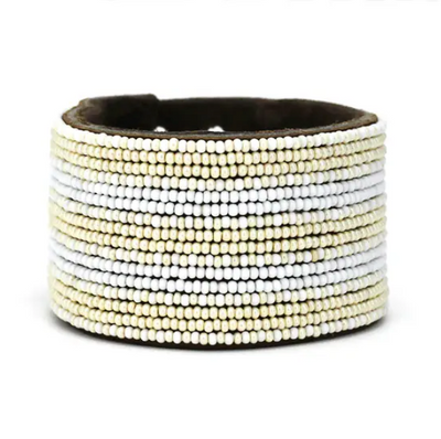 Large Beaded Cuff- Swahili Coast