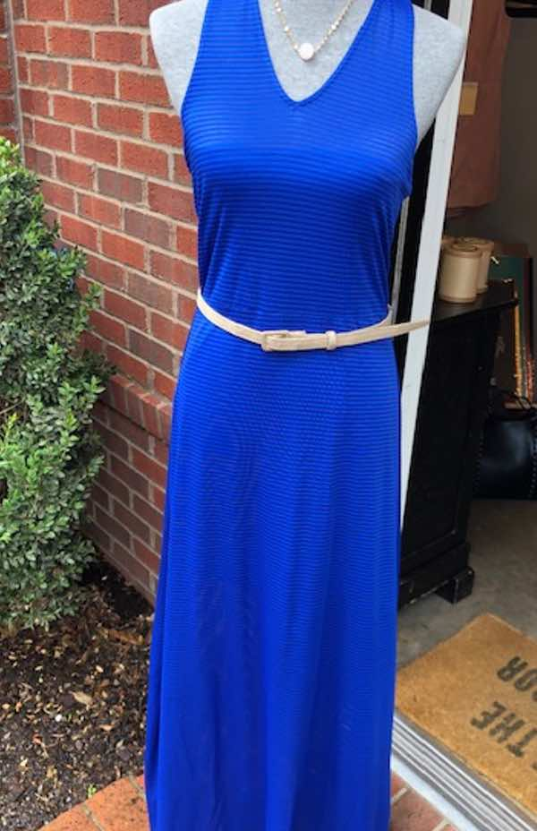 Something in the Way Maxi Dress- Regal Blue Maxi Dress