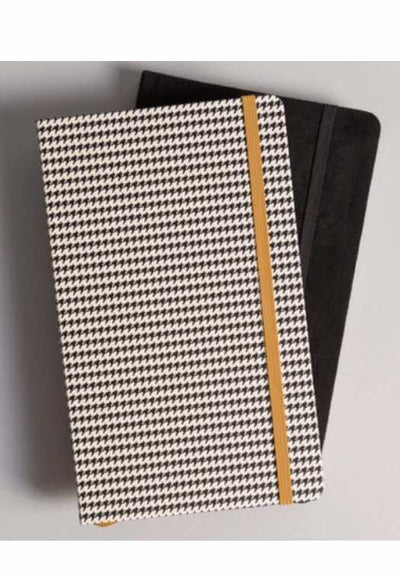 Heritage Hard Cover Book Journals- Houndstooth