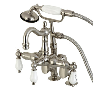 Clawfoot Tub Filler With Hand Shower, Brushed Nickel