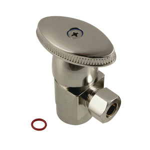 "Americana 1/2""IPS x 3/8""O.D. Anti-Seize Deluxe Quarter-Turn Ceramic Hardisc Cartridge Angle Stop"