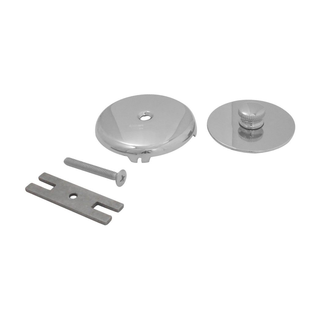 Made to Match Tub Drain Stopper with Overflow Plate Replacement Trim Kit