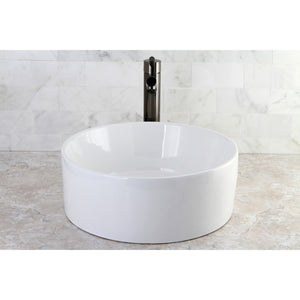 "Park White Vitreous China Bathroom Vessel Sink (L)15-3/4"" x (W)15-3/4"" x (H)5-7/8"""