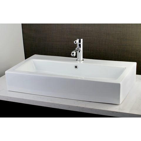"Adelaide Elongated 32 x 17"" Rectangular White Vitreous China BathroomVessel Sink (L)31-1/2"" x (W)17-1/4"" x (H)5-1/2"""