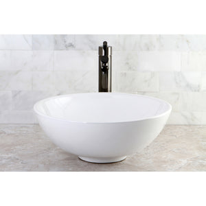 "Serene White Vitreous China Bathroom Vessel Sink (L)15-7/8"" x (W)15-7/8"" x (H) 6-1/4"""
