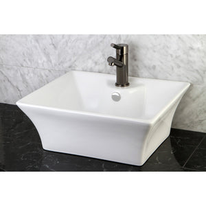 "Forte White Vitreous China Bathroom Vessel Sink (L)18-7/8"" x (W)15-1/8"" x (H) 7-1/8"""