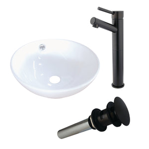 Vitreous China Basin With Sink Faucet and Drain Combo
