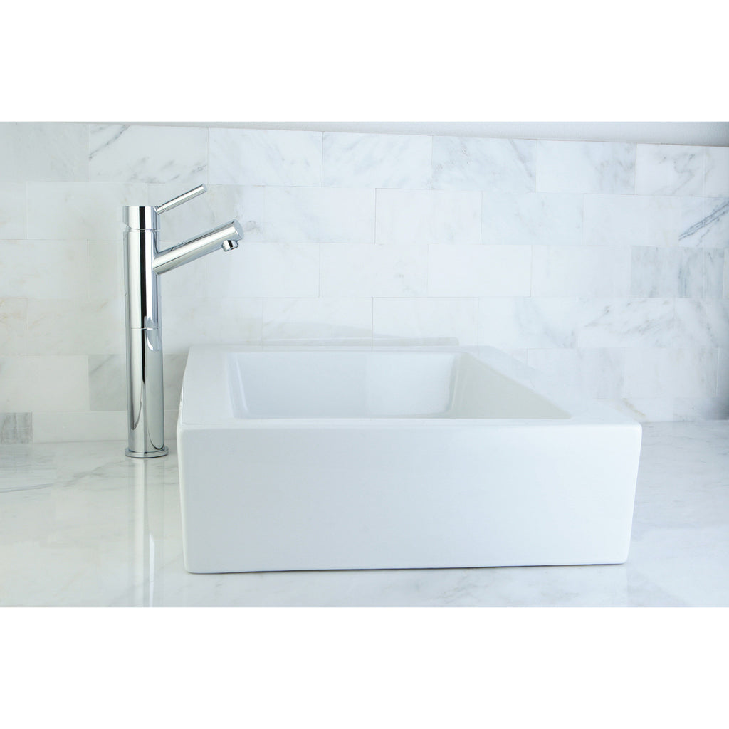 "Pacifica White Vitreous China Bathroom Vessel Sink (L)22"" x (W)15-3/4"" x (H) 5"""