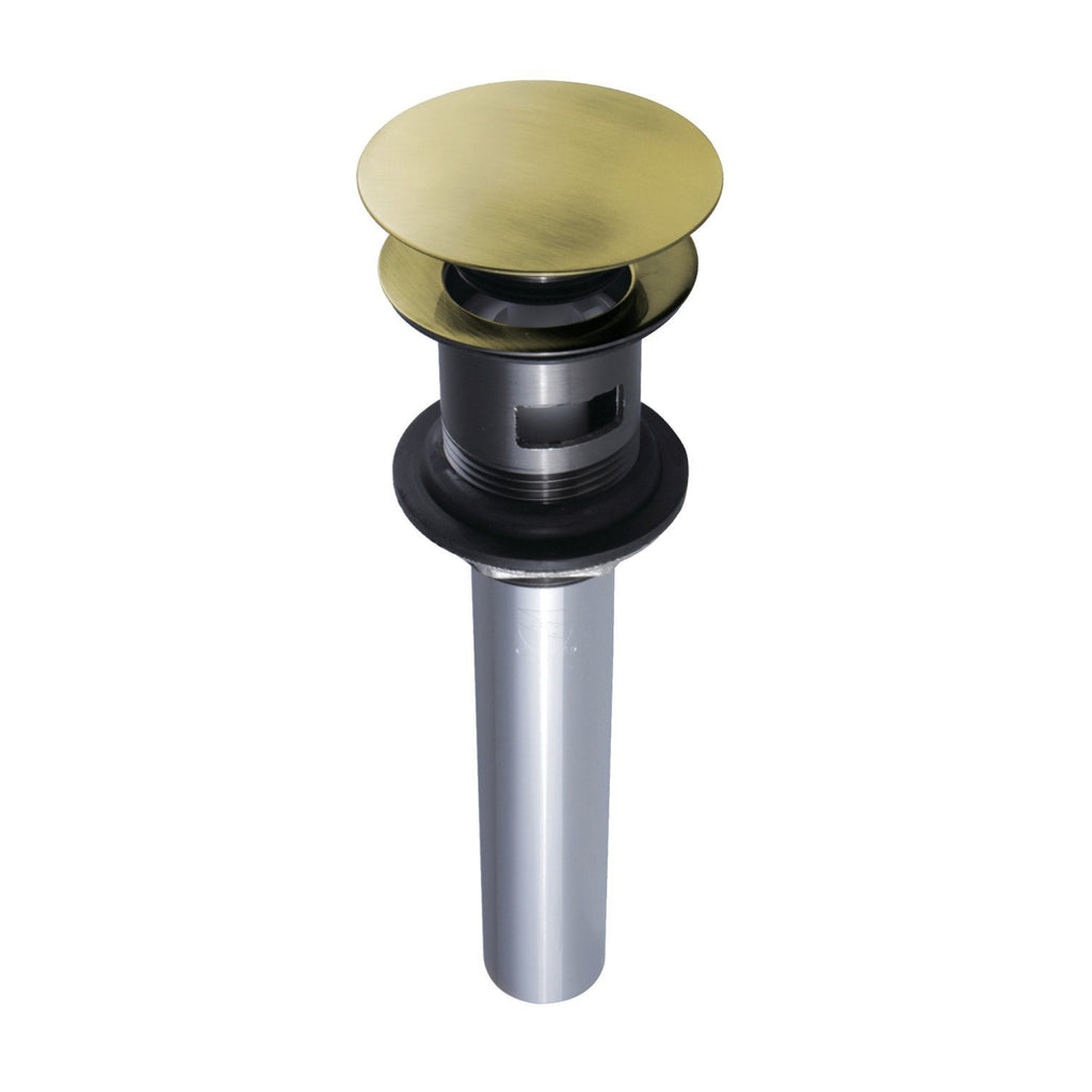 Push Pop-Up Drain with Overflow Hole, 22 Gauge