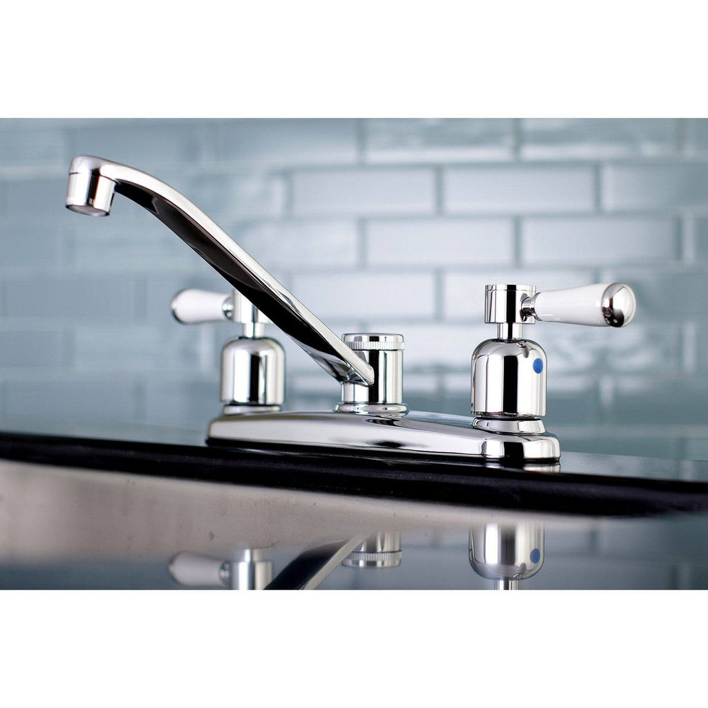 "Paris Two-Handle 2-Hole Deck Mount 8"" Centerset Kitchen Faucet"