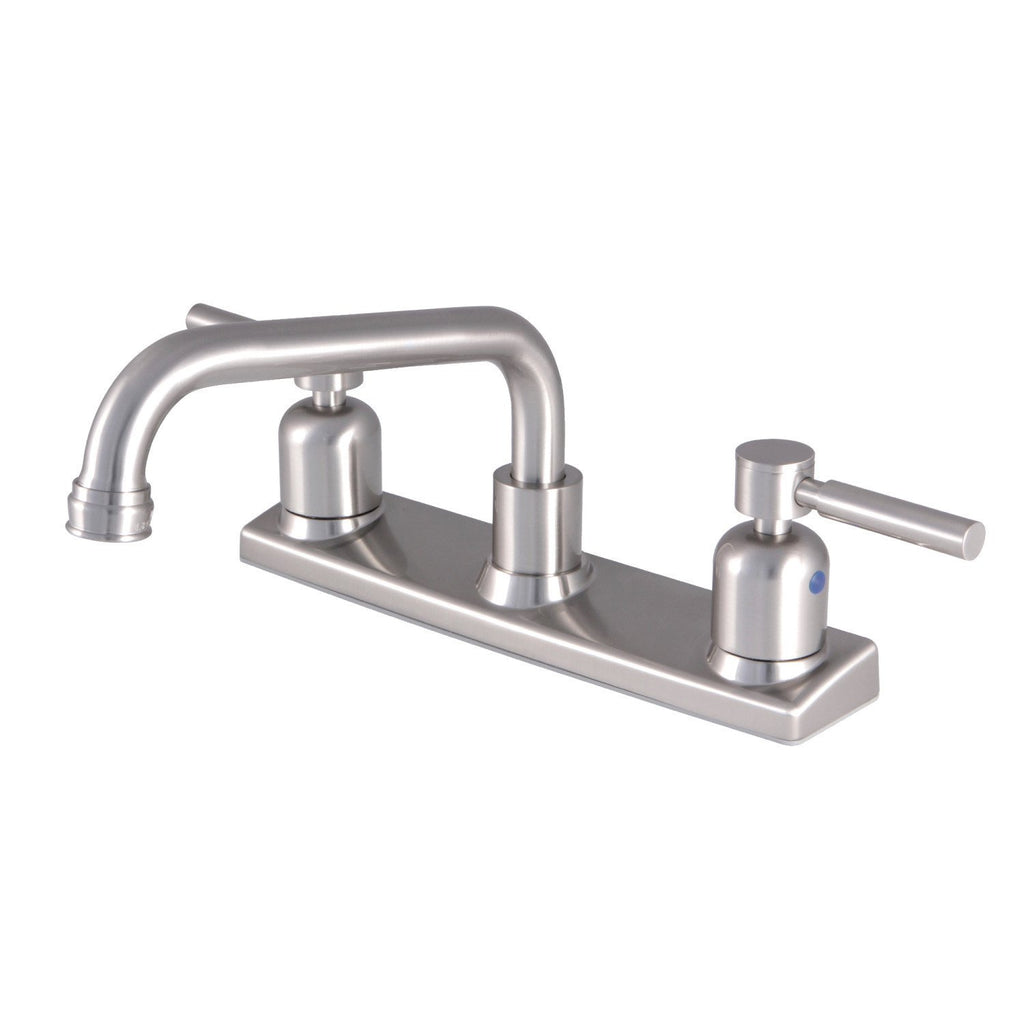 "Concord Two Handle 8"" Centerset 2-Hole Kitchen Faucet w/Metal Lever, 1.8 gpm"