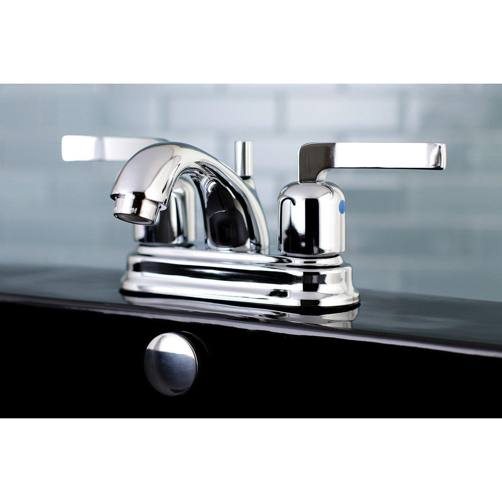 "Centurion Two Handle 4"" Centerset 3-Hole Bathroom Faucet w/Metal Lever - Includes Pop-Up Drain, 1.2 gpm"
