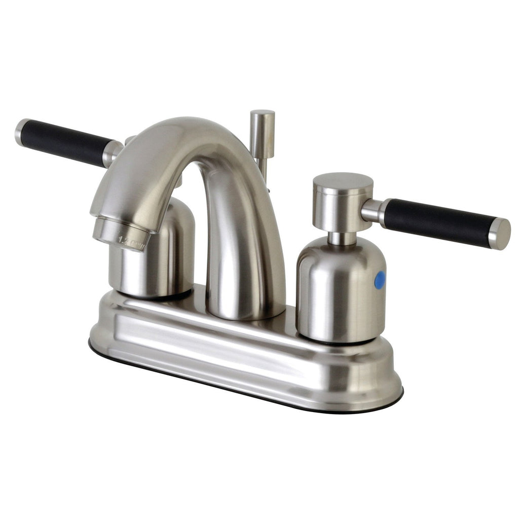 "Kaiser Two Handle 4"" Centerset 3-Hole Bathroom Faucet w/Metal Lever - Includes Pop-Up Drain, 1.2 gpm"