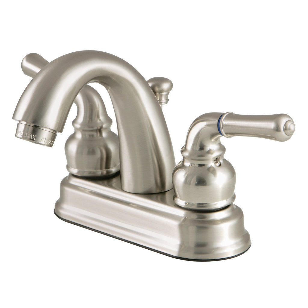 "Classic 4"" Centerset 3-Hole Bathroom Faucet - Includes Pop-Up Drain w/Metal Lever - Includes Pop-Up Drain, 1.2 gpm"