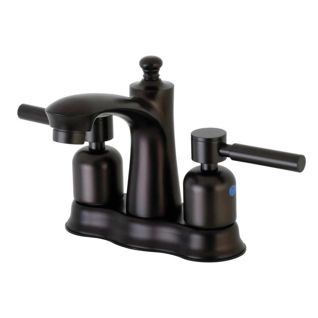 "Concord Two Handle 4"" Centerset 3-Hole Bathroom Faucet w/Metal Lever - Includes Pop-Up Drain, 1.2 gpm"