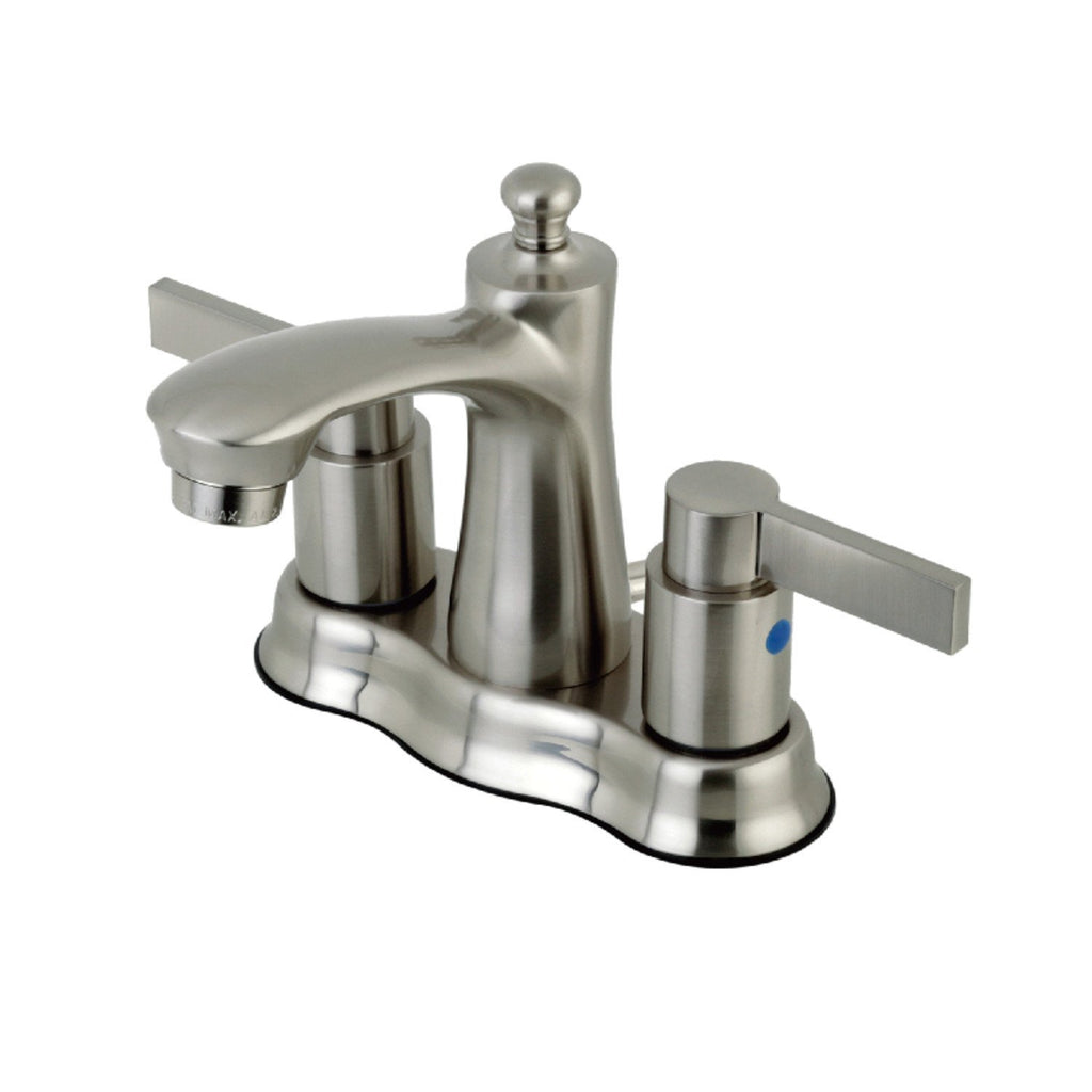 "NuvoFusion Two Handle 4"" Centerset 3-Hole Bathroom Faucet w/Metal Lever - Includes Pop-Up Drain, 1.2 gpm"