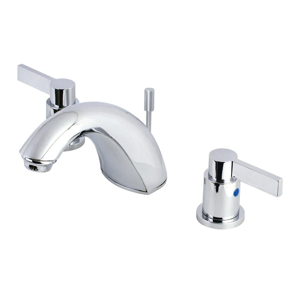 "NuvoFusion Two Handle 4"" Mini-Widespread 3-Hole Bathroom Faucet w/Metal Lever - Includes Pop-Up Drain, 1.2 gpm"