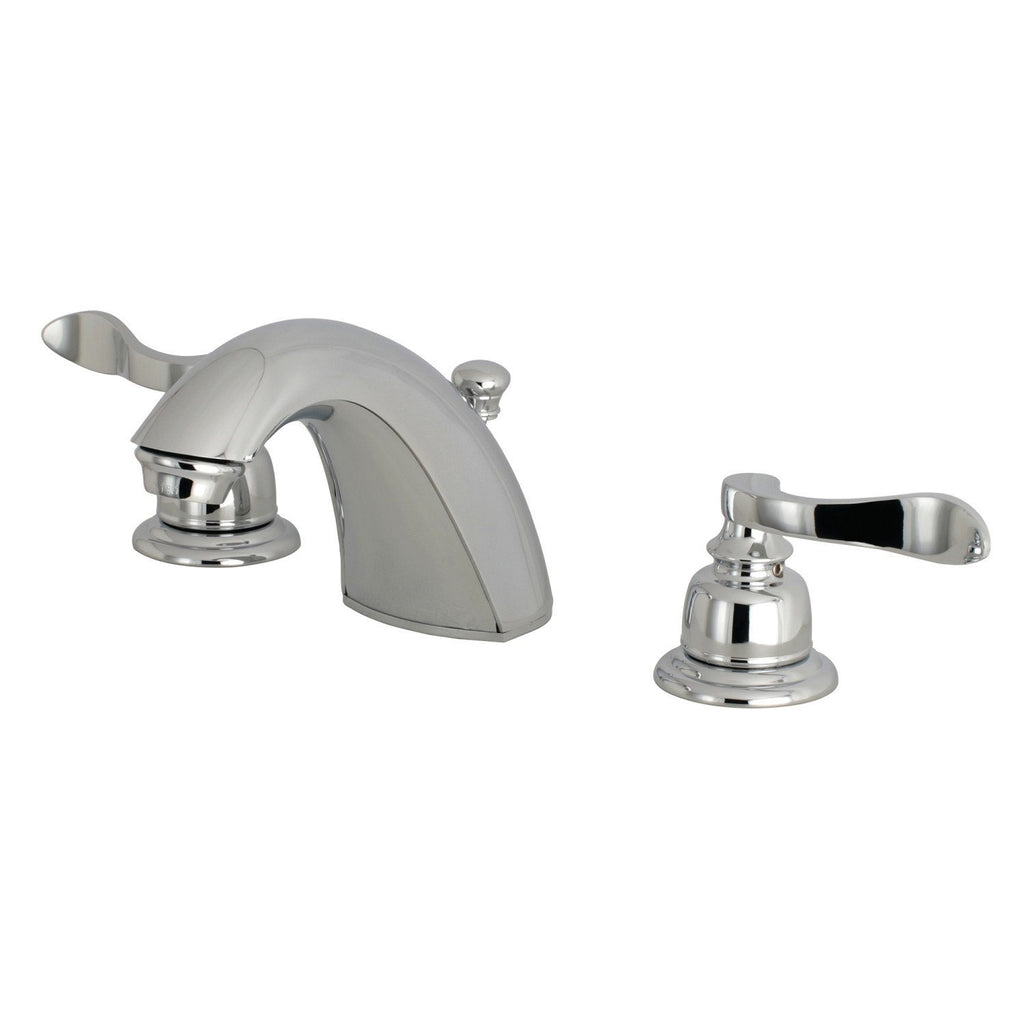 "NuWave Two Handle 4"" Mini-Widespread 3-Hole Bathroom Faucet w/Metal Lever - Includes Pop-Up Drain, 1.2 gpm"