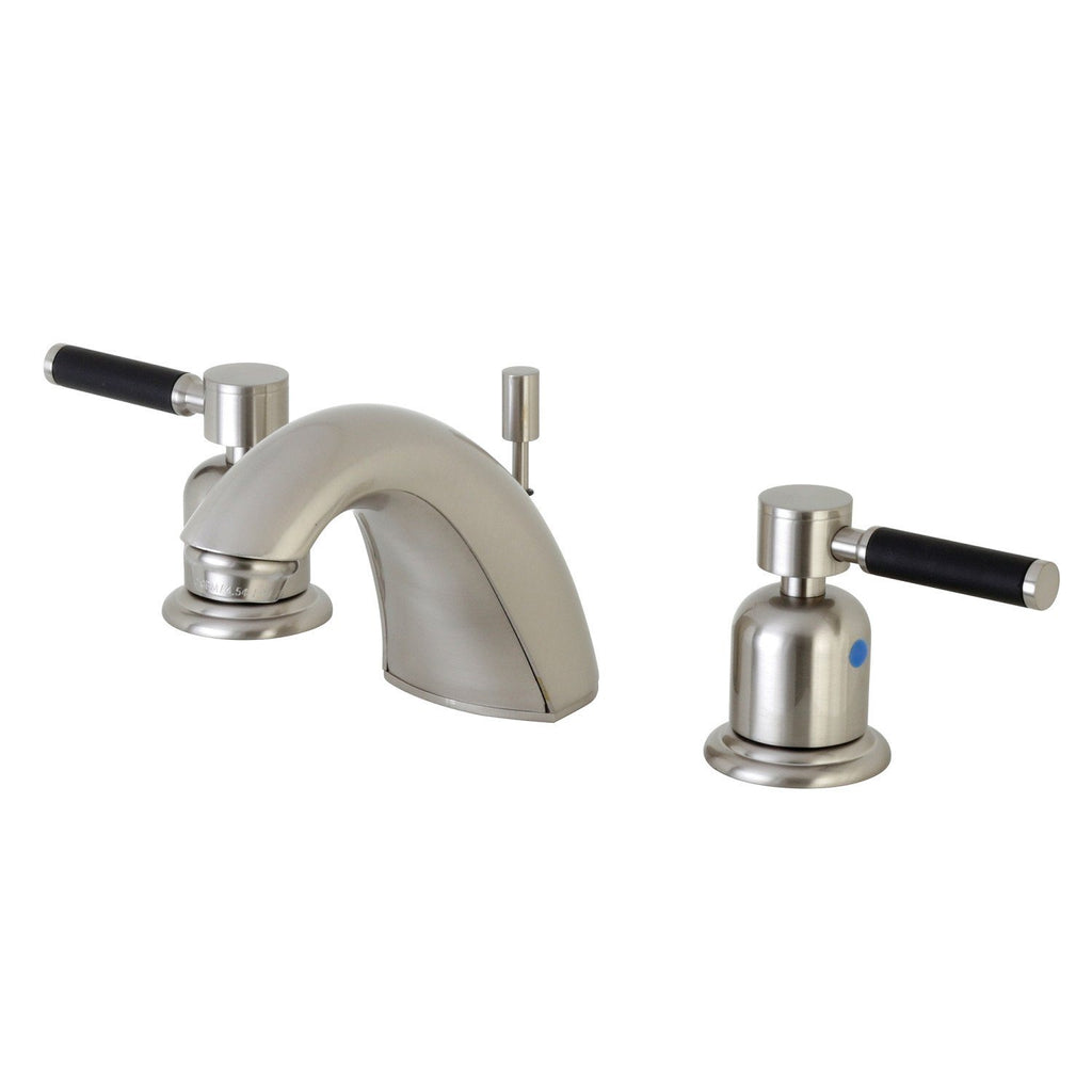 "Kaiser Two Handle 4"" Mini-Widespread 3-Hole Bathroom Faucet w/Metal Lever - Includes Pop-Up Drain, 1.2 gpm"