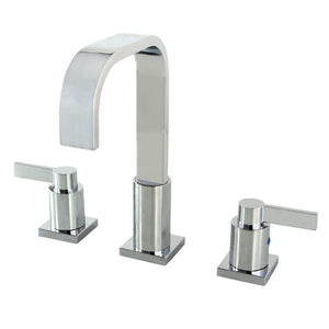 NuvoFusion Two-Handle 3-Hole Deck Mount Widespread Bathroom Faucet with Plastic Pop-Up